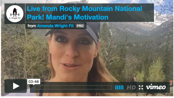 Live from Rocky Mountain National Park!  #Mandi'sMotivation