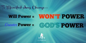 Will Power = Wont Power