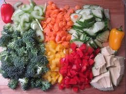 Chopped up Veggies
