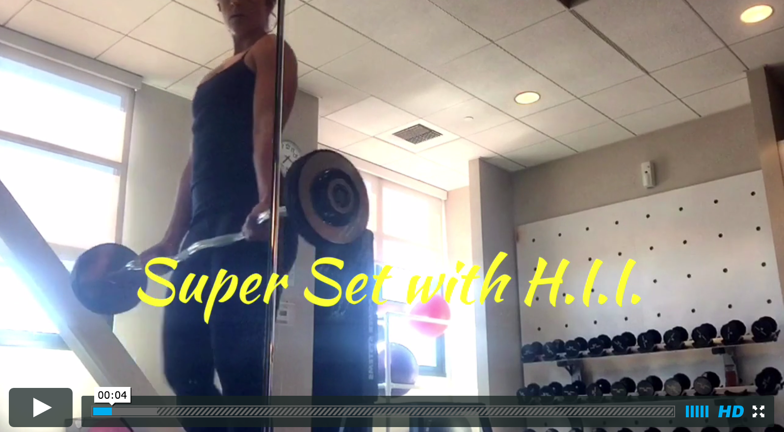 Super Set Workout with High Intensity Interval