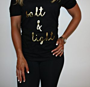 """Salt & Light"" Men & Women's V-Neck T-Shirt"