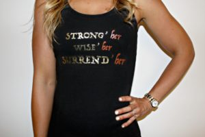 "'STRONG'her WISE'her SURREND'her"" Women's Tank"