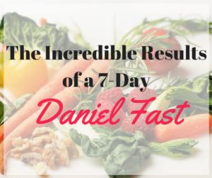 daniel fast results